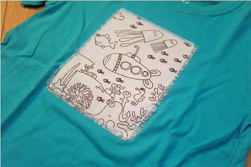 Tričko omalovánky - Podmořský svět