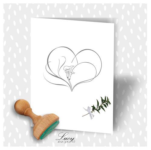 Razítko svatební srdce