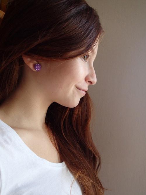 Dotty Buttons (Purple-White)