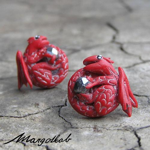 Pohádky: Dráčci náušnice červené