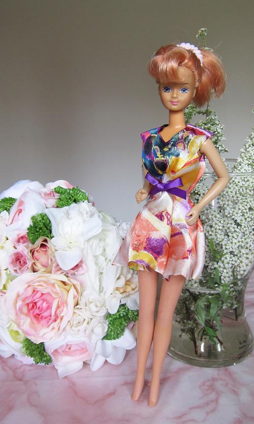 Barbie strakaté šaty - VÝPRODEJ