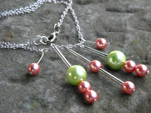 Jarní perly náhrdelníček