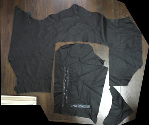 Odřezky kůže 1,5-2mm - 2 kusy černé