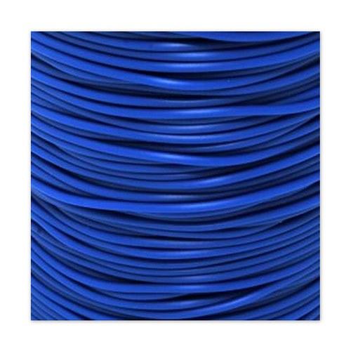 Gumová šňůrka - dutinka / 2 mm / Modrá