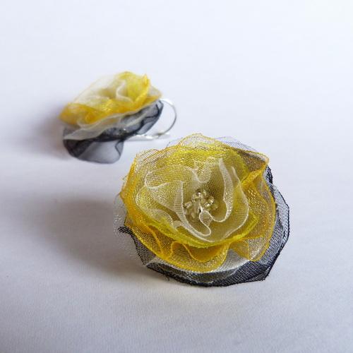 Kouzelné žluto černé náušničky pro alergiky