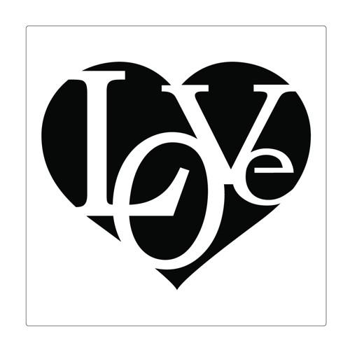 Šablona na malování SRDCE - LOVE