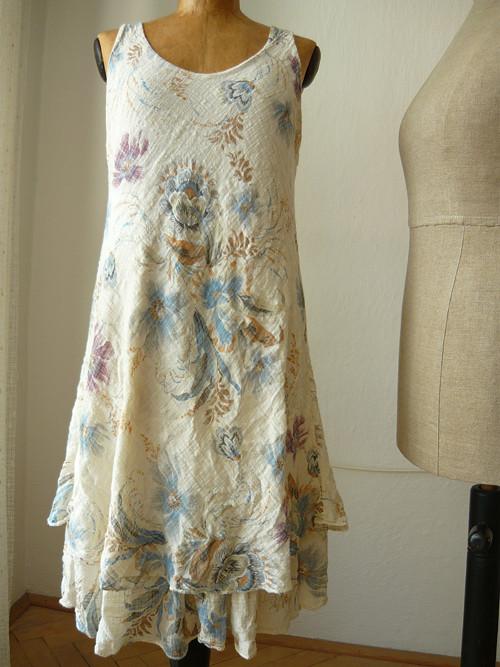 bavlněné šaty vrstvené