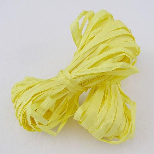 Žluté papírové lýko - 20 m