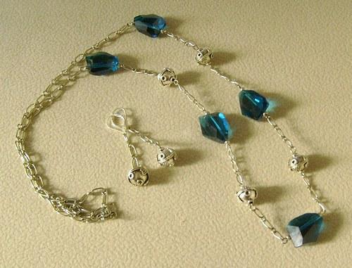 modrý krystal