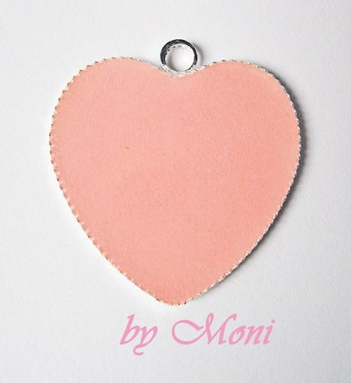 Tmavě růžové srdce