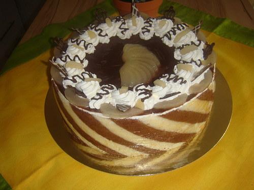 Dort čokoládovo - hruškový