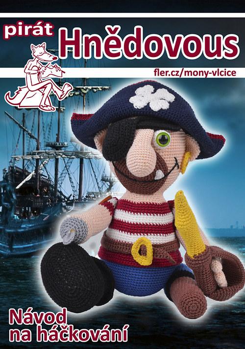 Háčkovaný pirát Hnědovous - návod
