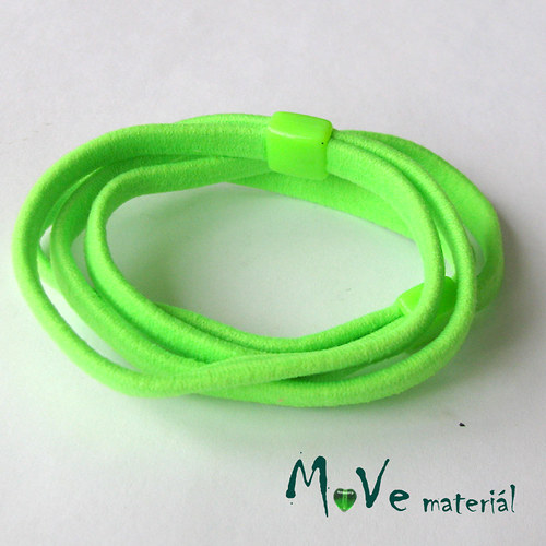 Sada plochých gumiček na úpravu, 2ks, neon zelená