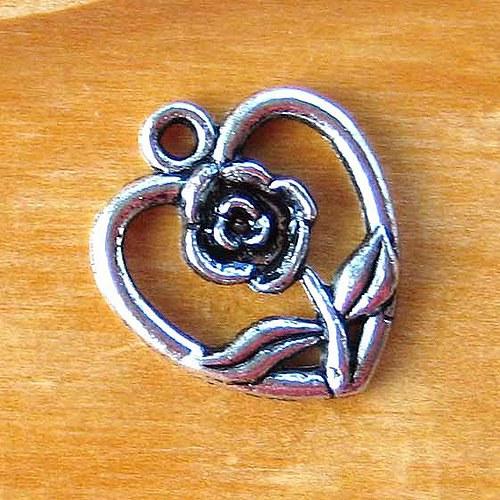 Srdíčko s Růžičkou - 2ks