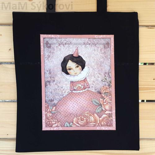 Bavlněná taška s aplikací panenka Santoro II