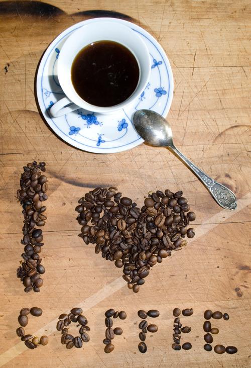 I ♥ coffee - fotografie 30x45cm