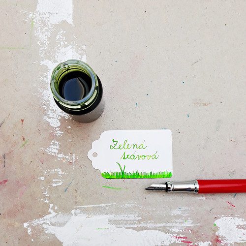 Inkoust - zelená trávová