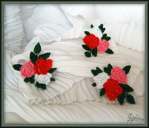 Tři růžičky - dekorace