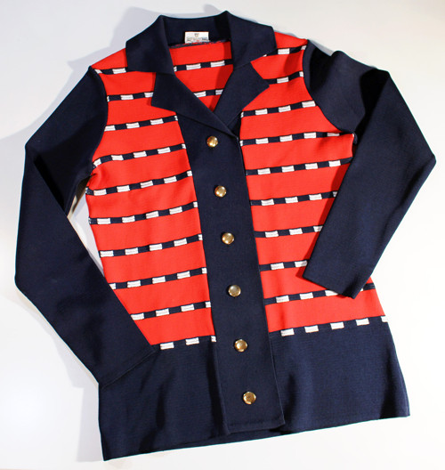 Vintage top, svetřík originál,konec 60.let Skotský