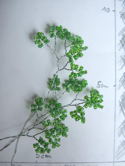 Listy 1 korálkové do kytice