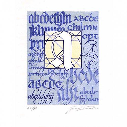 Dějiny písma - modré