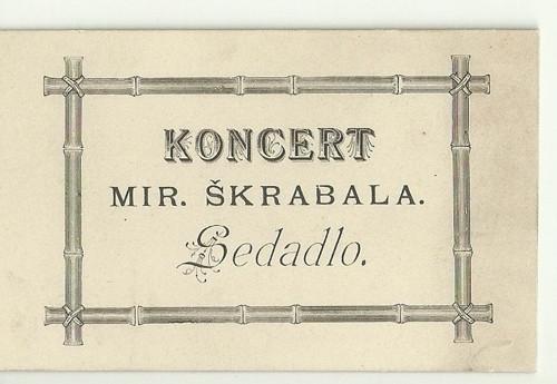 Tvrdá kartička Koncert Mir. Škrabala