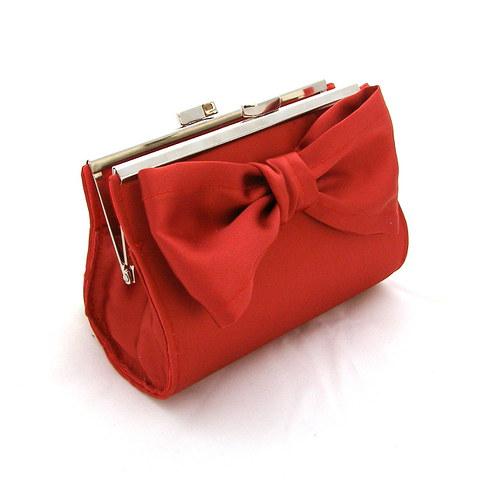 Plesová kabelka červená