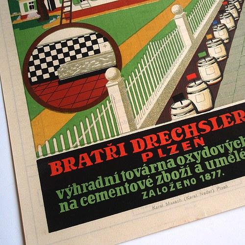 Reklama BARVY DRECHSLER PLZEŇ - č.1284