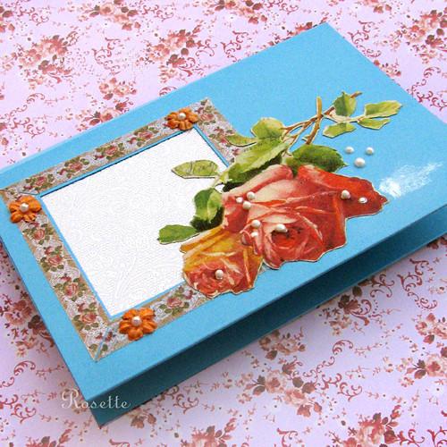 Růže k svátku -  přání