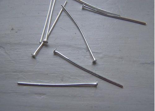 Ketlovací nýty - 50mm - stříbrné - kovové.