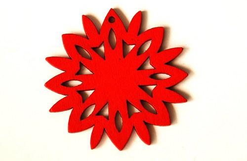 dřevěná sluníčka- červená