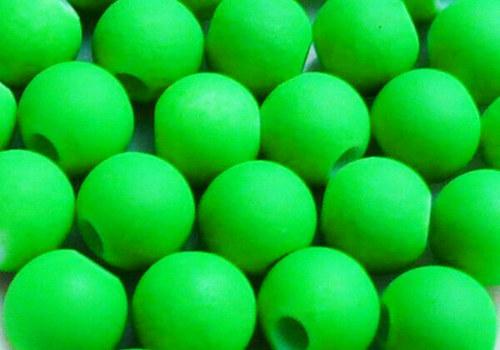 Pogumovaná kulička 6 mm - neon zelená / 10 ks