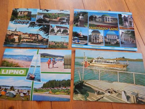 Města - 4 pohlednice