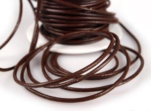 Šňůrka Ø2mm, syntetická kůže - 1m
