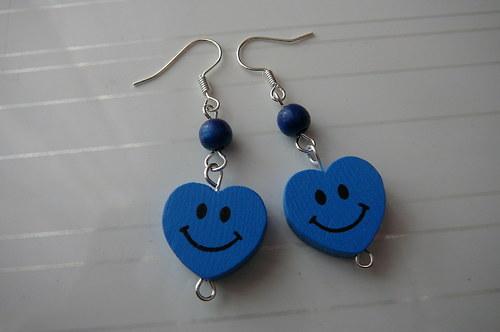 Veselá srdíčka-modré