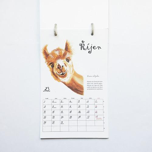 Chlupatý nástěnný kalendář s volitelných začátkem