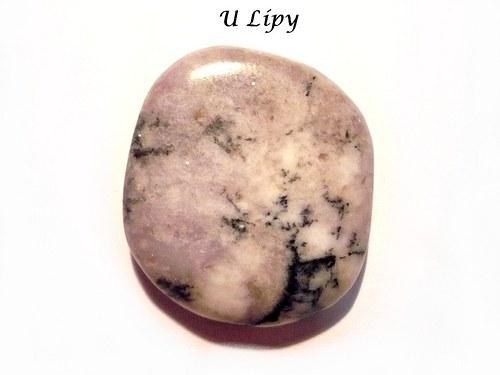 Tromlovaná placička - lepidolit, č.82
