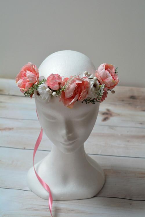 Věneček růžovo bílý