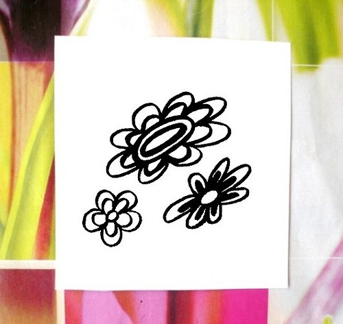 Květy 3 ks... Omyvatelná razítka.