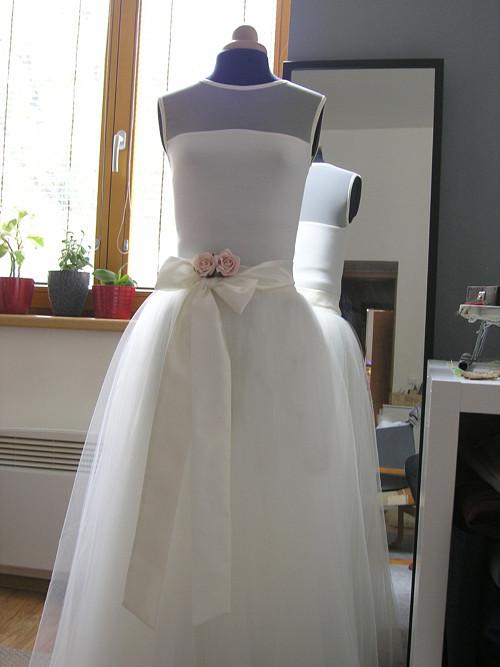 Ivory  svatební sukně  + body