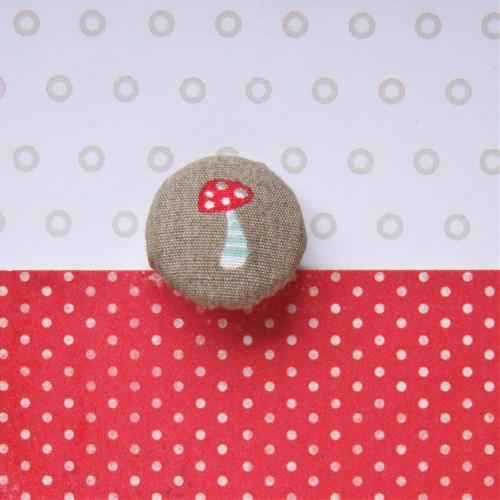 Knoflík buttonek (malý 19mm) - Muchomůrka