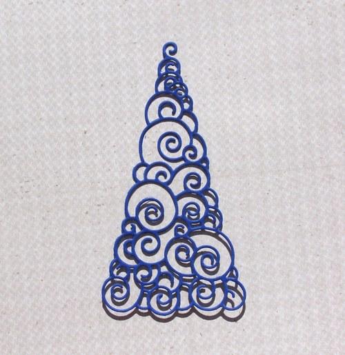 Vánoční stromeček spirálkový