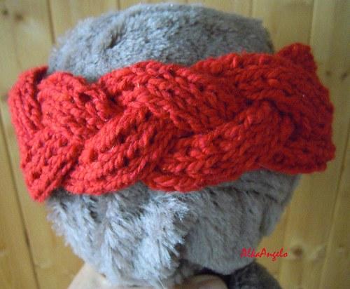 Dámská čelenka-pletýnka, návod na ruční pletení