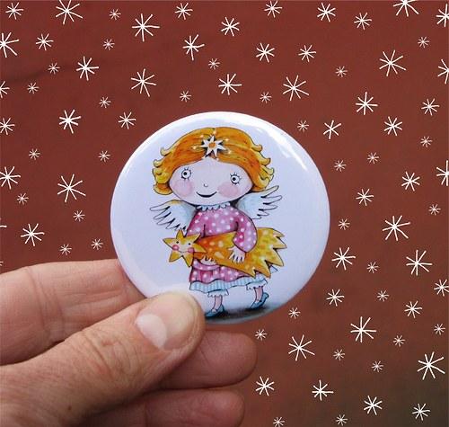 andělka Amálka... zrcátko s futrálkem