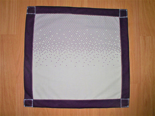 Ubrus fialový lem