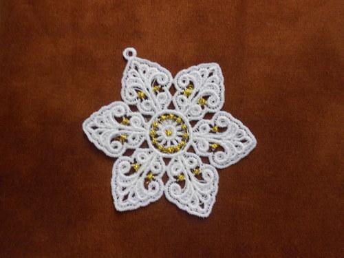 Vánoční ozdoba - sněhová vločka bílá AP1684005