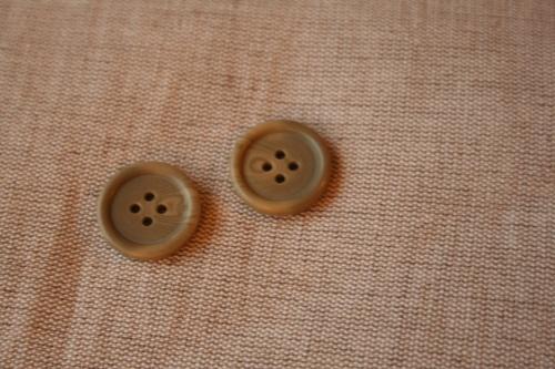 3 knoflíky_imitující dřevo_olivové_2 cm
