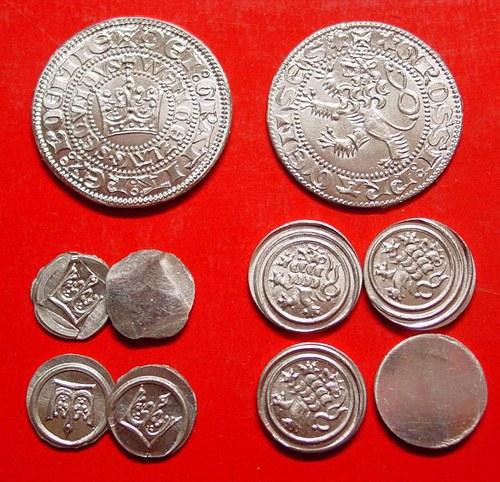 Sada oběživa - Čechy středověk 10 mincí