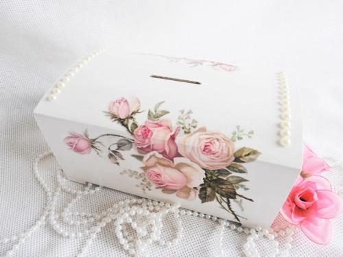 Svatební velká pokladnička - ROSE