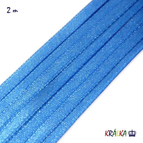 Atlasová stuha 3 mm modrá